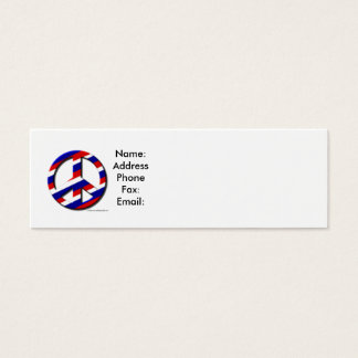 peace-sm, Name:AddressPhoneFax:Email: Mini Business Card