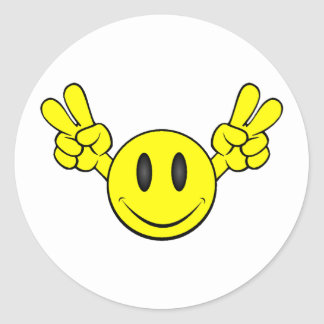 Peace Smiley Stickers