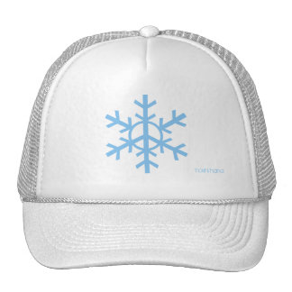 Peace snowflake trucker hat - sky blue