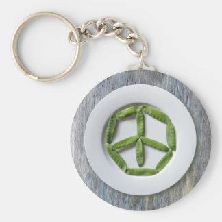 Peace Snowpeas Keychain 2