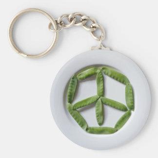 Peace Snowpeas Keychain