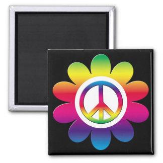 Peace Square Magnet