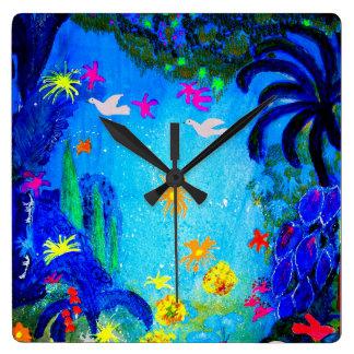 Peace. Square Wall Clock