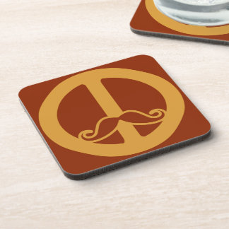 Peace Stache coasters