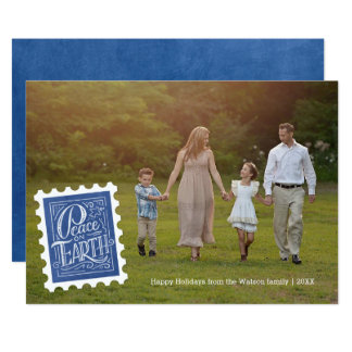 Peace Stamp | Holiday Photo Card