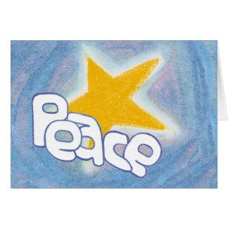 Peace Star - Blue Greeting Card