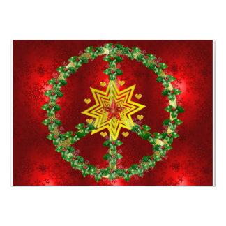 Peace Star Christmas 13 Cm X 18 Cm Invitation Card