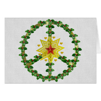 Peace Star Christmas Card