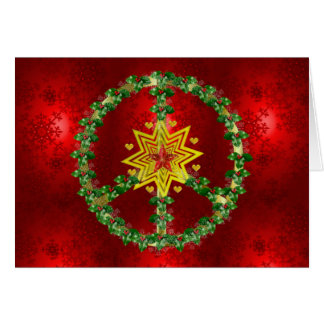 Peace Star Christmas Greeting Card