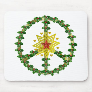 Peace Star Christmas Mouse Pad