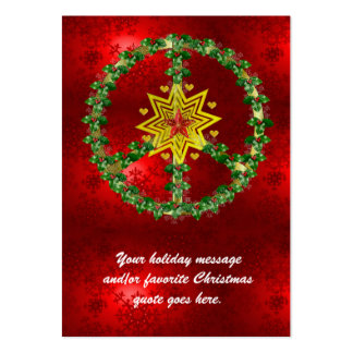 Peace Star Christmas Pack Of Chubby Business Cards