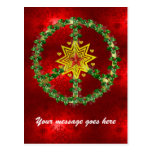 Peace Star Christmas Postcard