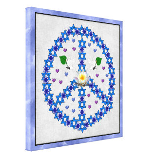 Peace Star Of David Canvas Prints