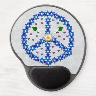 Peace Star Of David Gel Mouse Pads