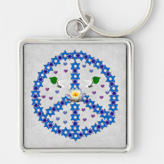 Peace Star Of David Key Chains
