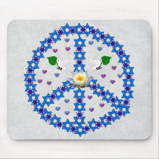 Peace Star Of David Mouse Pad