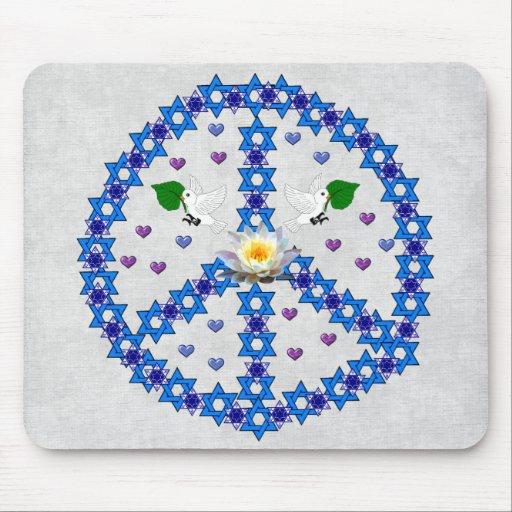 Peace Star Of David Mousepad