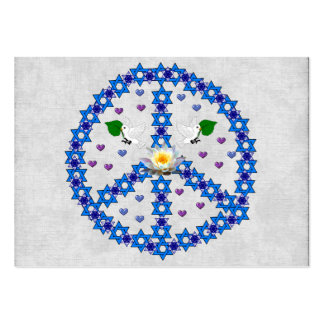 Peace Star Of David Pack Of Chubby Business Cards
