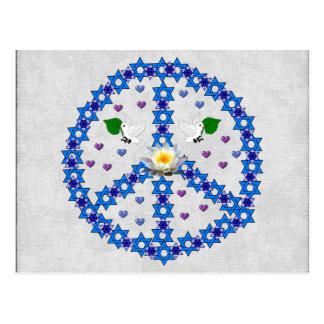Peace Star Of David Post Cards