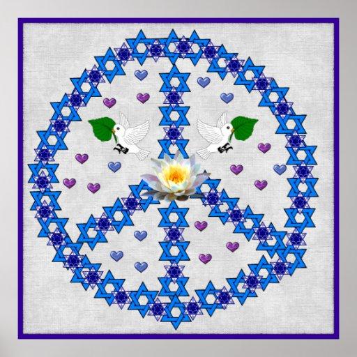 Peace Star Of David Print