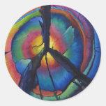 Peace Stump Round Sticker