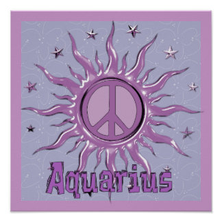 Peace Sun Aquarius Poster