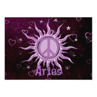 Peace Sun Aries 13 Cm X 18 Cm Invitation Card