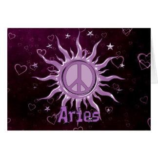 Peace Sun Aries Greeting Card