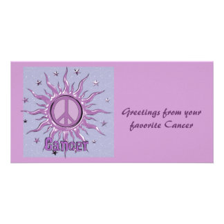 Peace Sun Cancer Picture Card