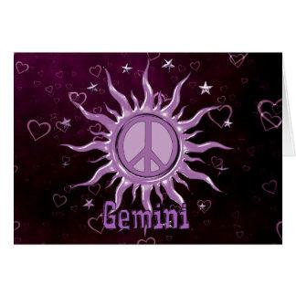 Peace Sun Gemini Card