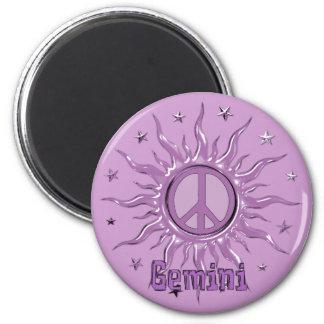 Peace Sun Gemini Magnet