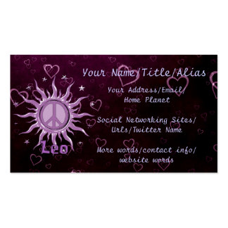 Peace Sun Leo Pack Of Standard Business Cards