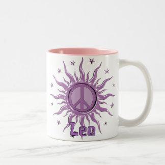 Peace Sun Leo Two-Tone Mug
