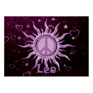 Peace Sun Leo Pack Of Chubby Business Cards