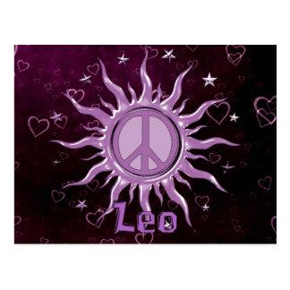 Peace Sun Leo Postcard