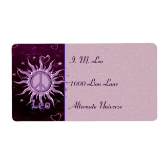 Peace Sun Leo Shipping Label