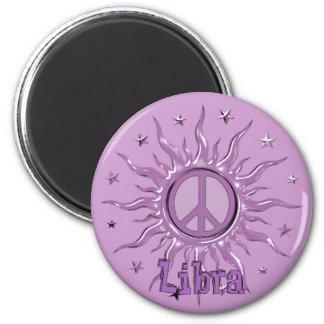 Peace Sun Libra 6 Cm Round Magnet