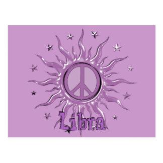 Peace Sun Libra Postcard