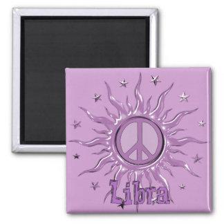 Peace Sun Libra Square Magnet