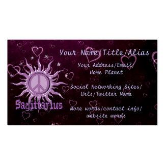 Peace Sun Sagittarius Pack Of Standard Business Cards