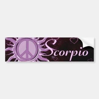 Peace Sun Scorpio Car Bumper Sticker