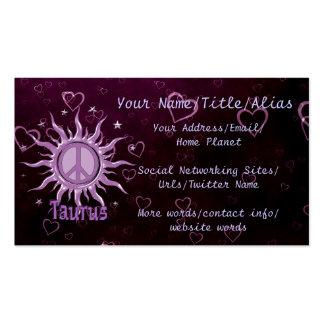 Peace Sun Taurus Pack Of Standard Business Cards