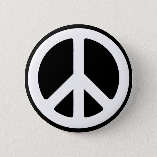 Peace Symbol 6 Cm Round Badge