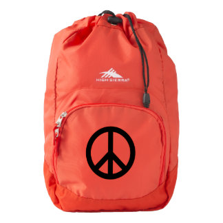 Peace symbol backpack