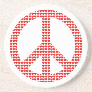 Peace Symbol Beverage Coaster