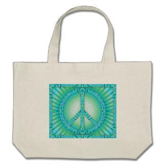 Peace Symbol Blue-Greens Bag
