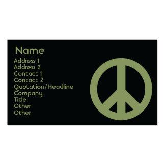 Peace Symbol - Business Business Card Templates