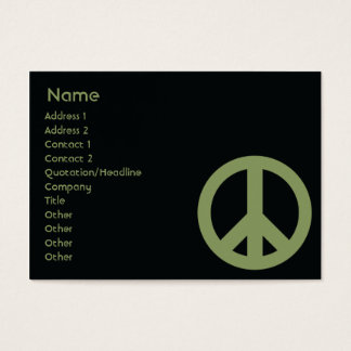 Peace Symbol - Chubby Business Card