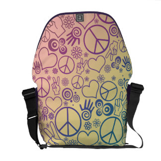 Peace Symbol Design Courier Bag