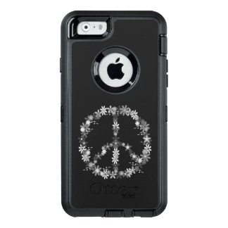Peace symbol flower power OtterBox defender iPhone case